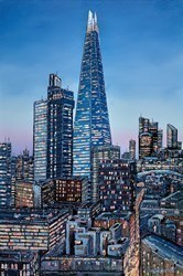 City Lights London by Phillip Bissell -  sized 24x36 inches. Available from Whitewall Galleries